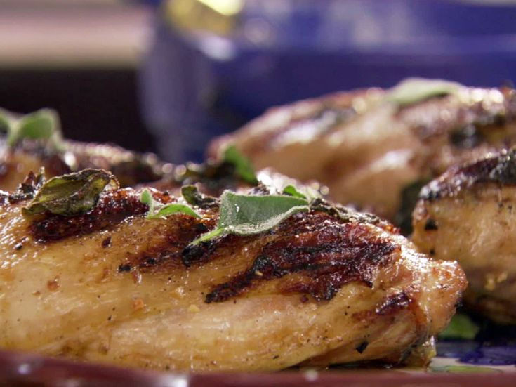 Grilled Greek Chicken from FoodNetwork.com did this with game hens ...