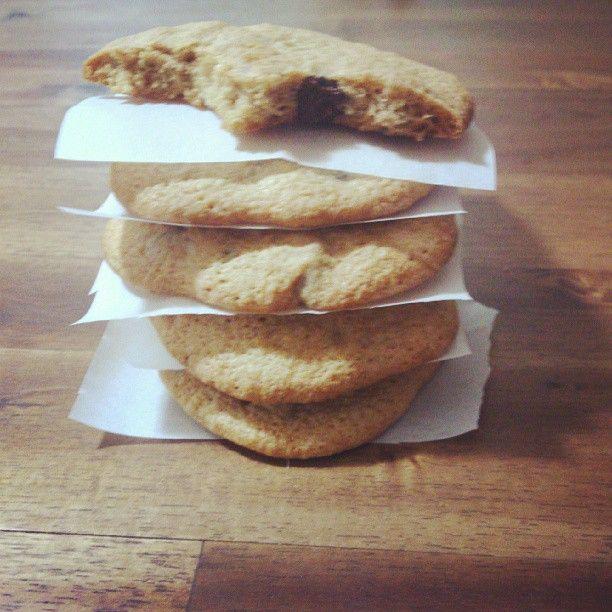 Coffee choco chip walnut cookies | Food! | Pinterest