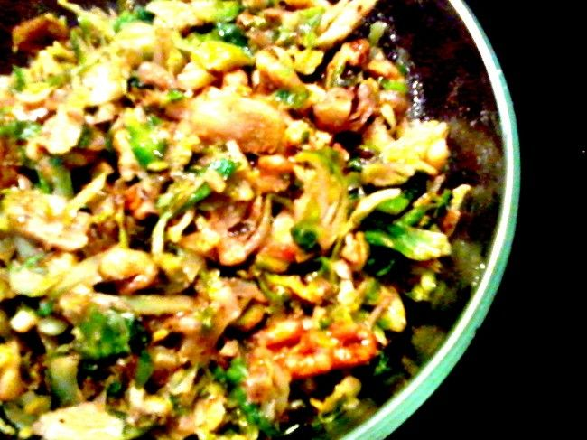 Dijon & Walnut Shredded Brussels Sprouts | Recipes | Pinterest