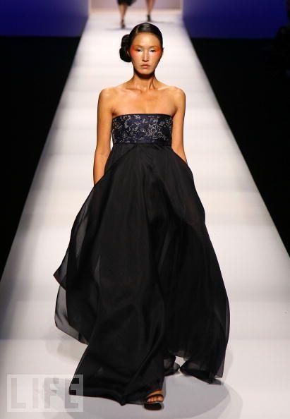 Modern black hanbok dress