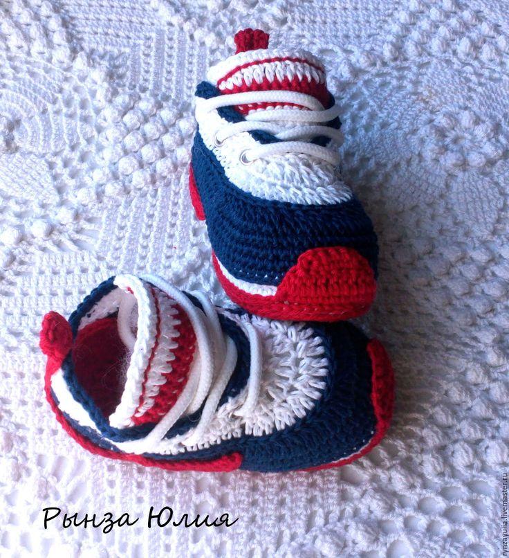 Вязание кроссовок для детей крючком 21