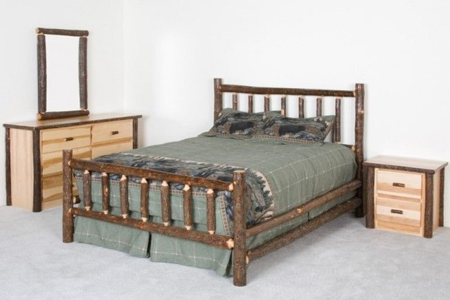 Hickory Log Bedroom Set Cabin Theme Pinterest