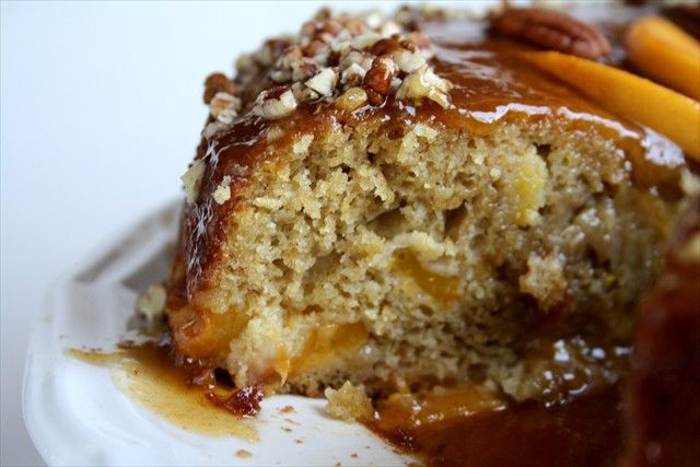 Peach Cake with Cinnamon Glaze | Cakes | Pinterest