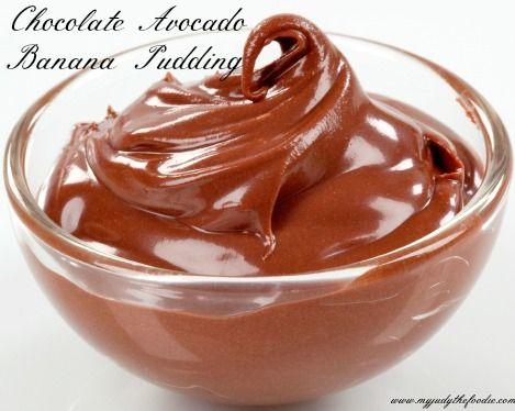 Chocolate Avocado Banana Pudding- tasty, healthy, easy #recipe