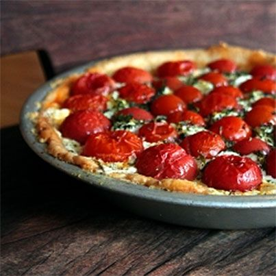 Tomato and Goat Cheese Tart | Food & Drink | Pinterest