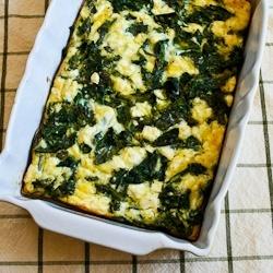 Kalyn's Kitchen: Recipe for Kale and Feta Breakfast Casserole