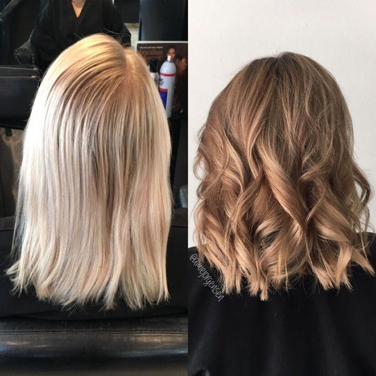 Lowlights auf blondiertem haar