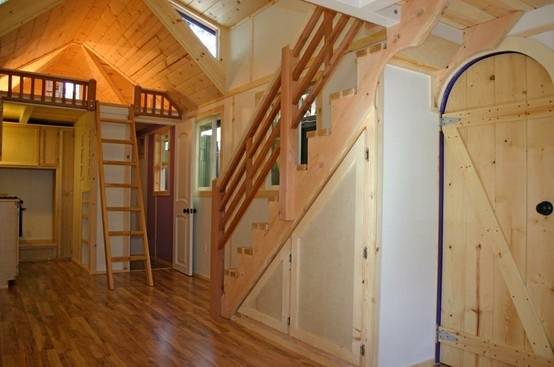 Tiny Home with Stairs tiny homes Pinterest