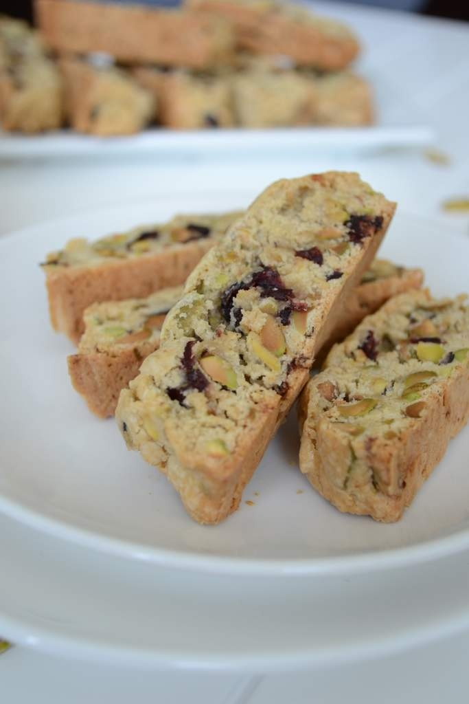 Pistachios and Cranberry Biscotti | Dessert - Small Bites | Pinterest