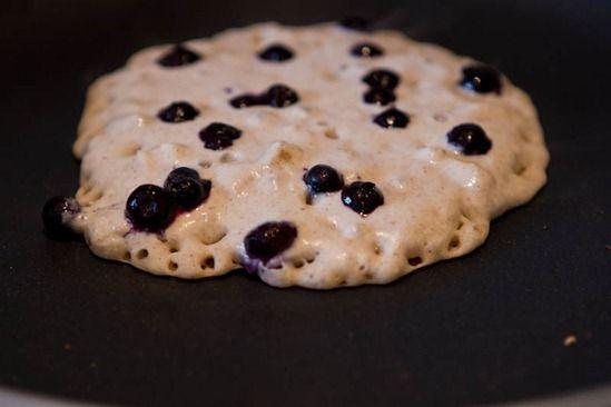 IMG 7730 Vegan & Gluten Free Vanilla Blueberry Buckwheat Pancakes