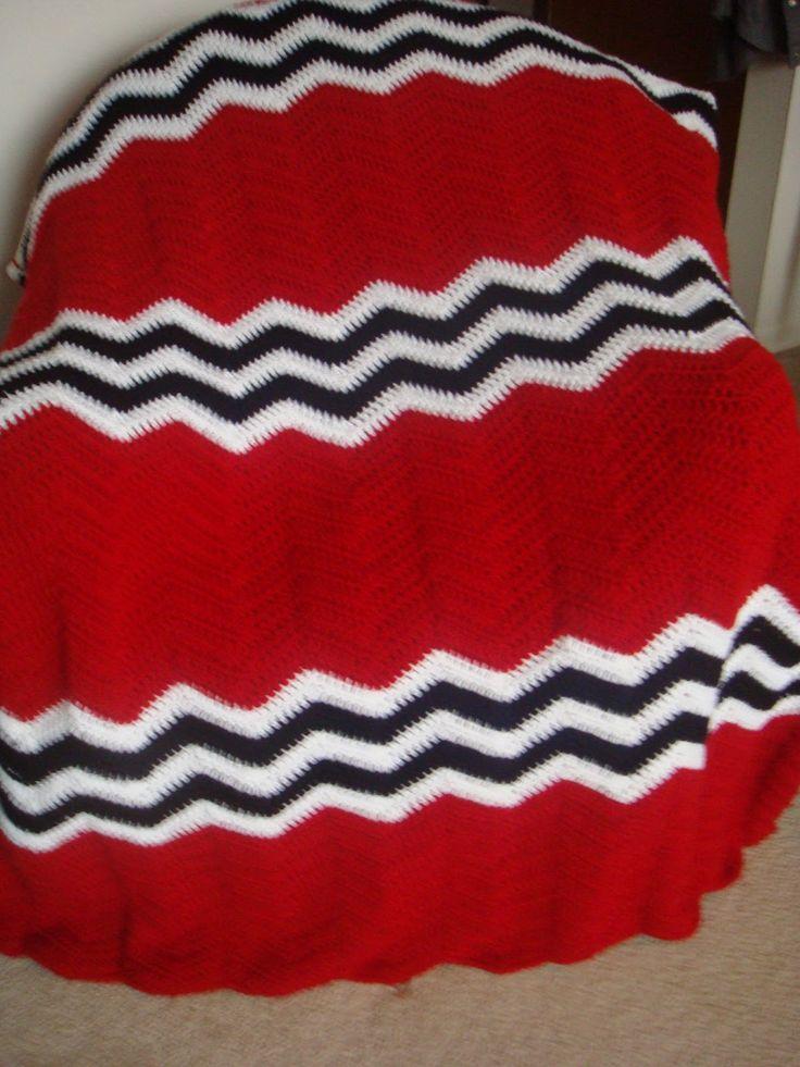Crochet Hockey Afghan Pattern : Pin by Sue K on Crochet Pinterest