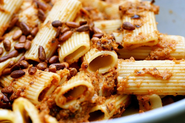 rigatoni with eggplant puree by smitten, via Flickr