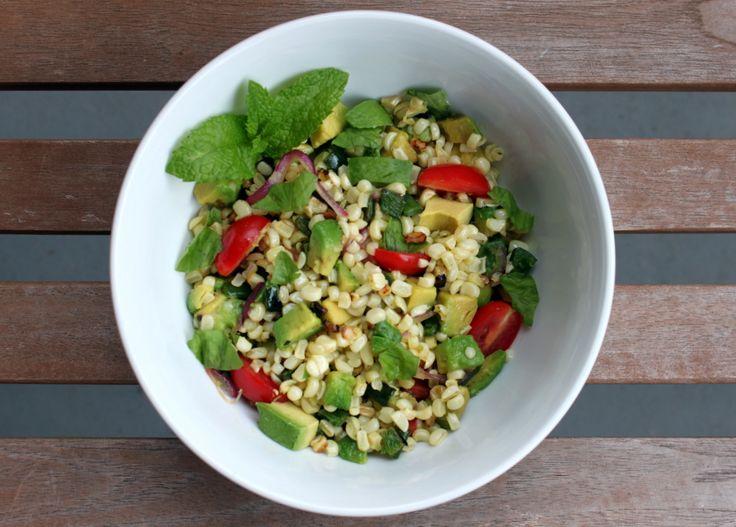 Charred Corn and Avocado Salad with Lime, Chili, and Tomato   Recipe