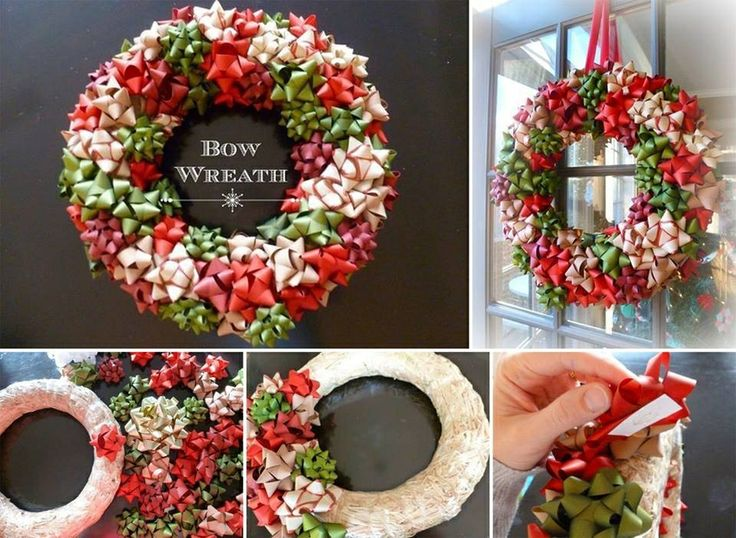 Bow wreath | Cool ideas | Pinterest