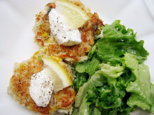 Crab and Corn Cakes...great, easy idea for Sunday brunch or any dinner ...