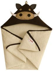 warthog hooded towel
