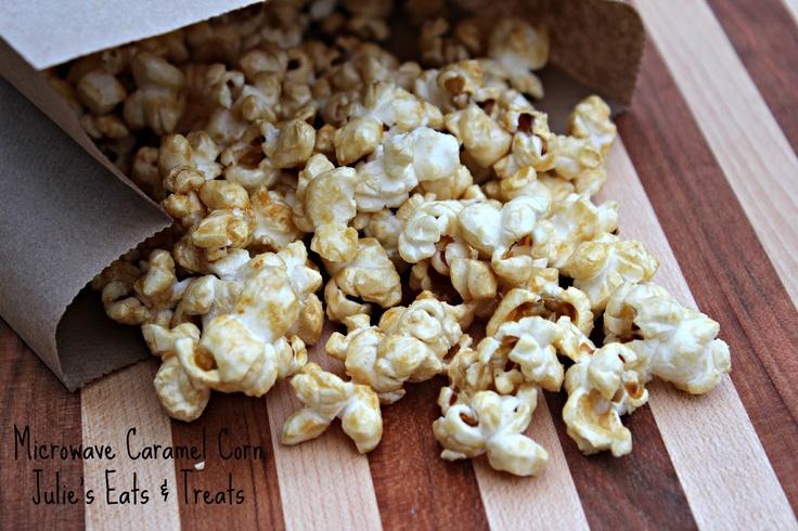 Julie' Eats & Treats: Microwave Caramel Corn ~ EASY last minute treat...