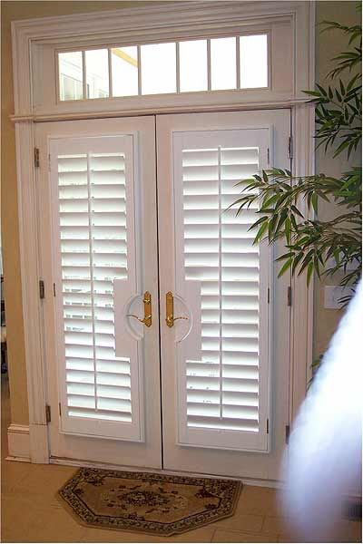 Patio Door Plantation Shutters For The Home Pinterest