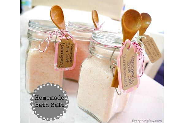 Homemade bath salts, DIY Handmade Gifts for the Holidays, Mohawk Homescapes