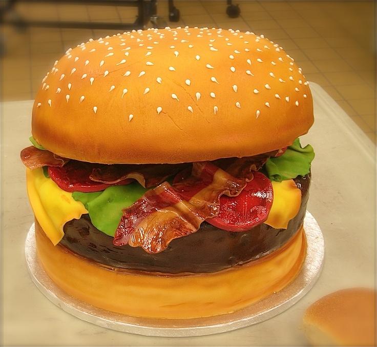Bacon Cheeseburger | 3D Cakes | Pinterest