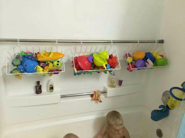 Awesome Bathtub Toy Storage  Bathroom Ideas  Pinterest