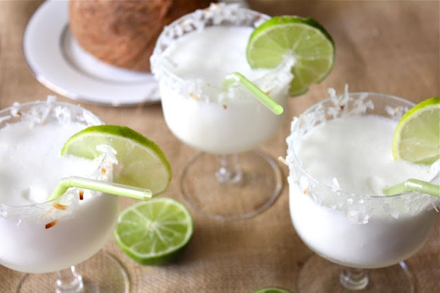 Coconut Lime Margaritas | Happy Hour | Pinterest