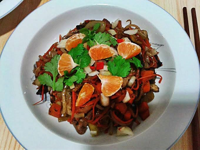 ... Jasmin Rice with stir-fry Shiitake mushrooms and vegetables #veganfood