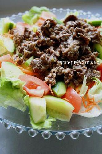 Yakiniku Beef Salad  Includes a recipe for yakiniku sauce Yakiniku Sauce Recipe