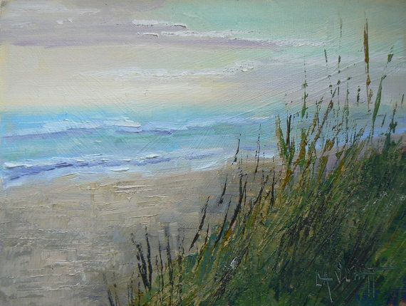 Beach painting florida painting tropical landscape sea for Seagrass landscaping