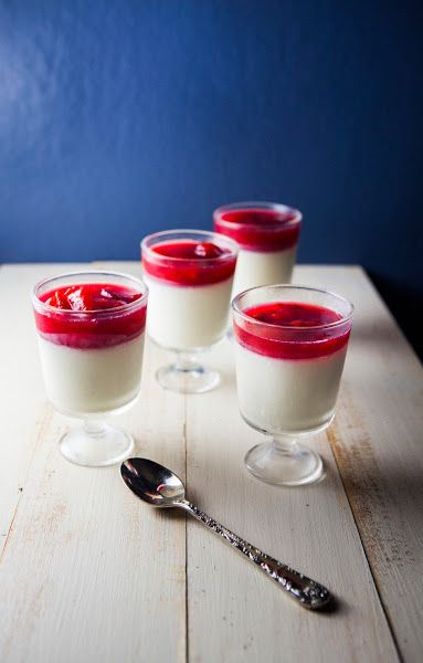 ... High: Buttermilk Panna Cotta with Plum and Rose Water Compote