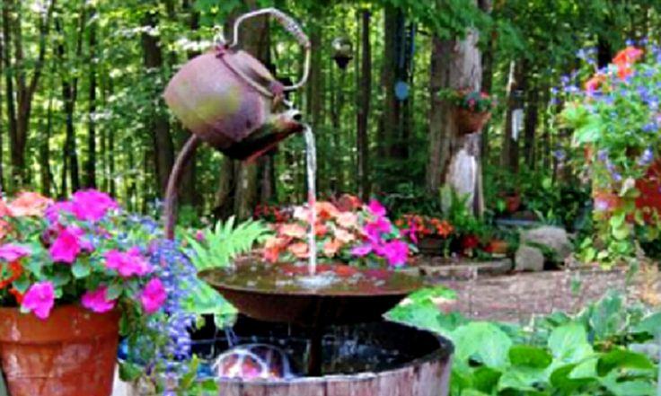 DIY Teapot Fountain | Garden & Outdoors ideas | Pinterest