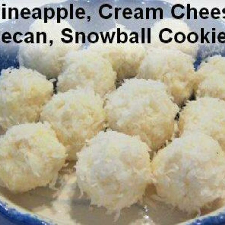 NO BAKE -Pineapple, Cream Cheese, Pecan, Snowball Cookies | Recipe