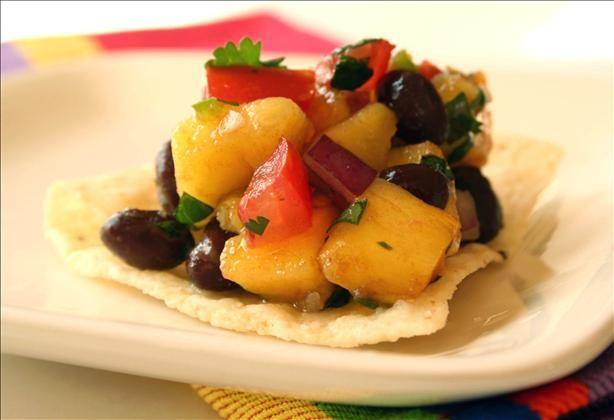Bean Mango Salsa - 15oz can black beans, rinsed and drained 1 mango ...