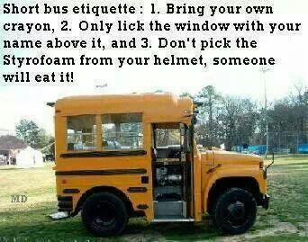 How to ride the short bus places things and friends for Window licker meme