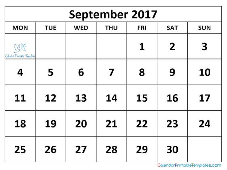 September 2017 Calendar Uk – September printable calendars