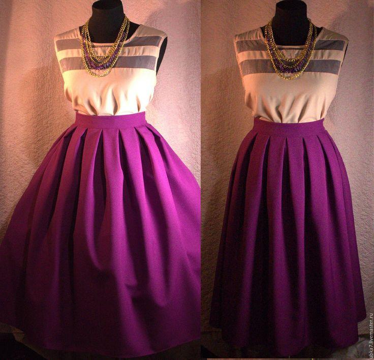 Длинная юбка из габардина сшить 76