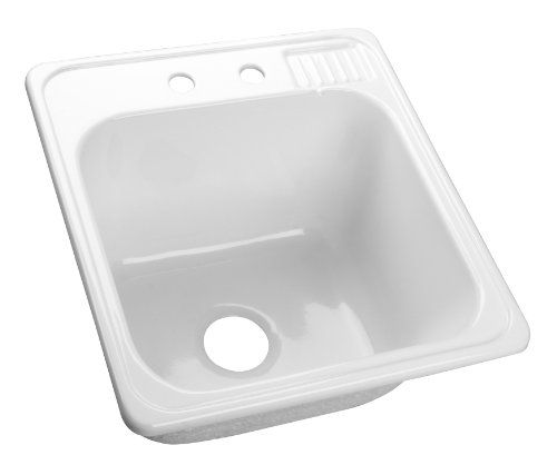 20 Inch Utility Sink : Rimming Laundry Tub, 22-Inch by 20-Inch with Extra Deep, 12-Inch Sink ...
