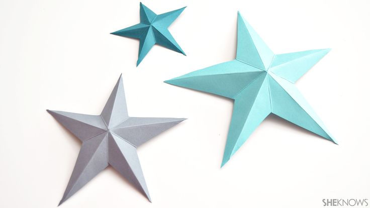 3D paper stars | Sheknows.com | Crafts & Diy | Pinterest