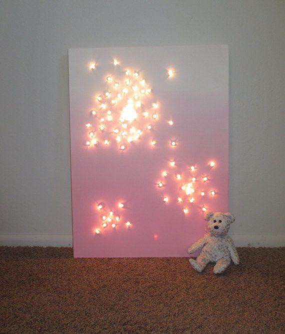3d Wall Decor Lights : 3D Wall Art Canvas Art Night Light Kids by TavassoliDesigns
