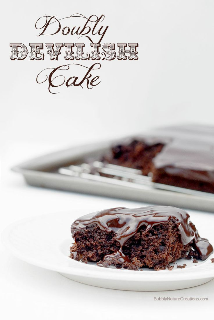 ... Devilish Cake! (Devil's Food Cake with Chocolate Ganache) | Re