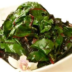 Sauteed Swiss Chard with Parmesan Cheese - use less butter next time ...