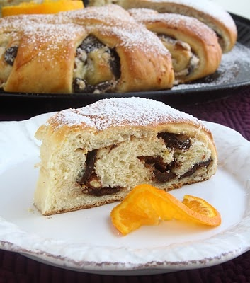 ... , Toasted Almonds and Chocolate Meringue Filled Yeast Coffee Cake