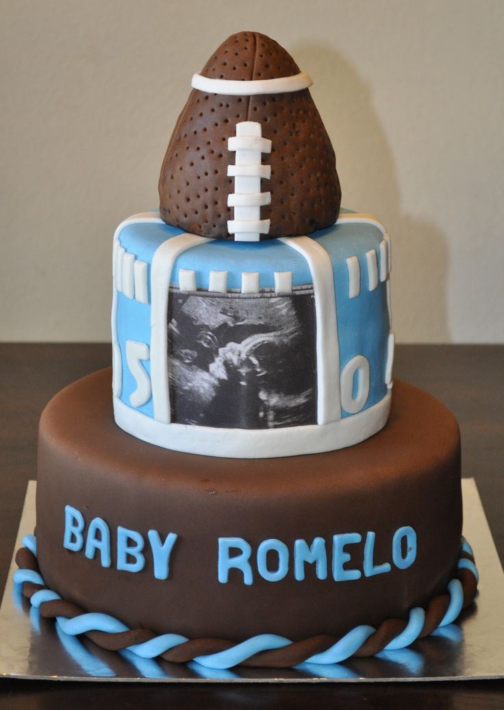 football themed baby shower cake by summer 39 s sweet treats