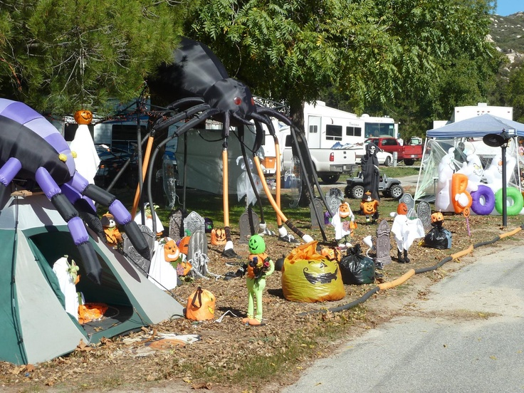 Decorating Ideas > Pin By CampingRoadTripcom On Spooky Halloween RVs  ~ 161501_Halloween Decorating Ideas Campground