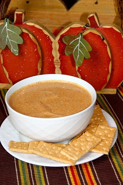 Pumpkin pie dip! Easy blend and serve w graham crackers, apples, or ...