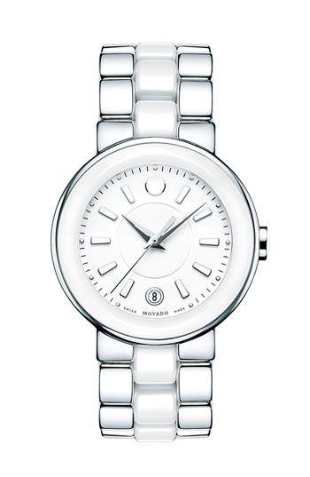 Movado 'Cerena' Ceramic & Steel Bracelet Watch | Nordstrom