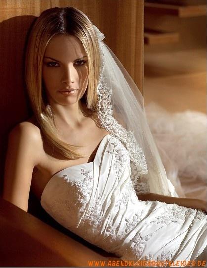 Sexy Brautkleider hamburg kaufen Meerjungfrau aus Taft und Applikation