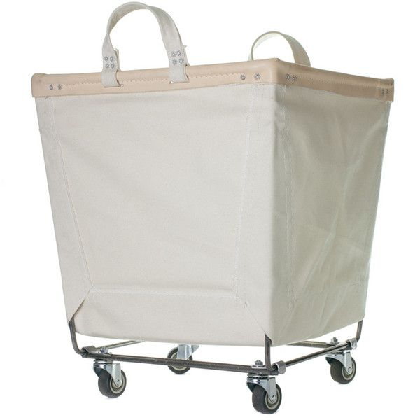 Canvas Laundry Cart Natural