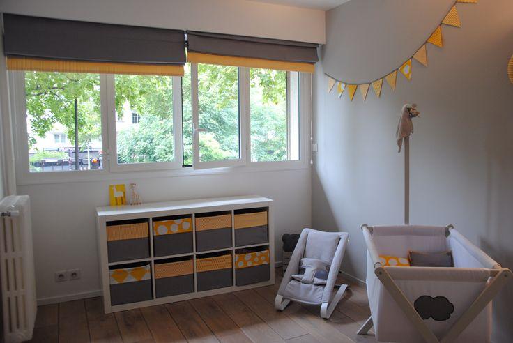 Chambre jaune et gris bebe baby pinterest for Decoration chambre bebe jaune et gris