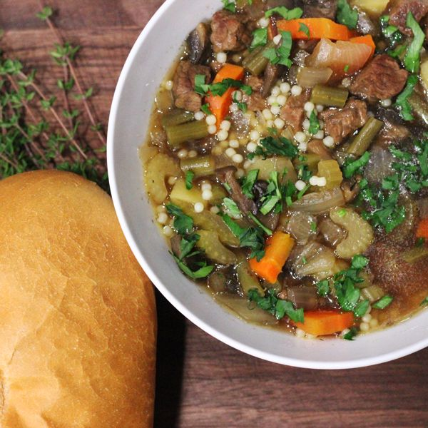 Slow Cooker Vegetable Beef Soup | Recipe